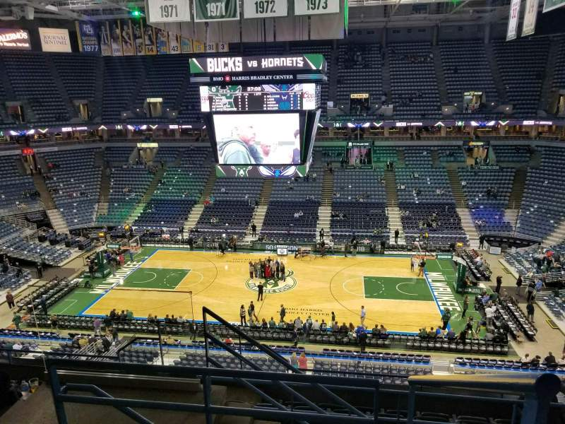 Seating view for BMO Harris Bradley Center Section 421 Row H Seat 11