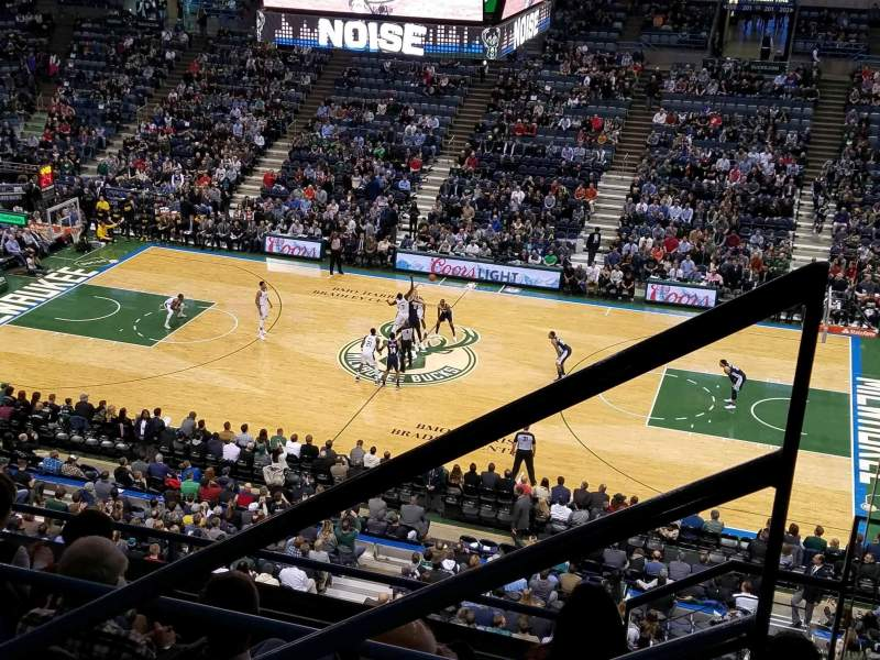 Seating view for BMO Harris Bradley Center Section 421 Row F Seat 1
