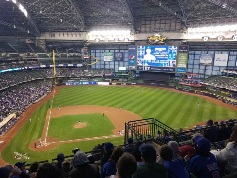 Seating view for Miller Park Section 417 Row 13 Seat 7