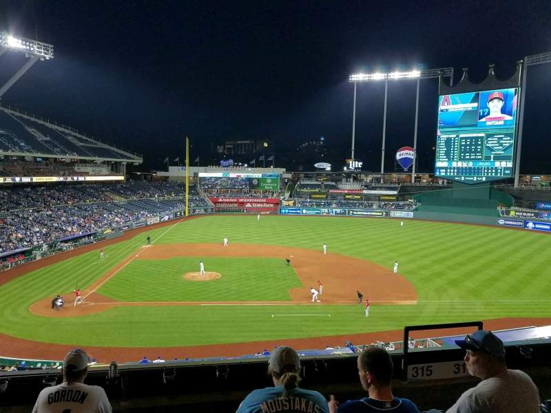 Seating view for Kauffman Stadium Section 315 Row E Seat 6