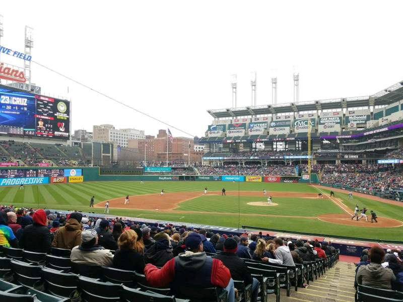 Seating view for Progressive Field Section 158 Row GG Seat 15