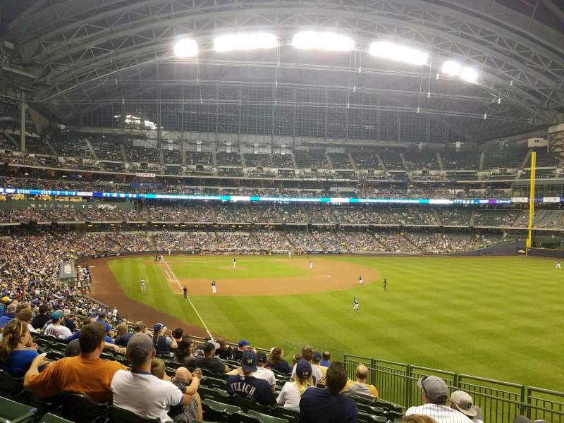 Miller Park, section: 206, row: 12, seat: 22