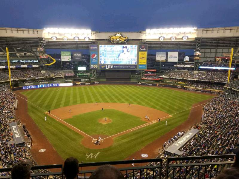 Seating view for Miller Park Section 421 Row 3 Seat 5