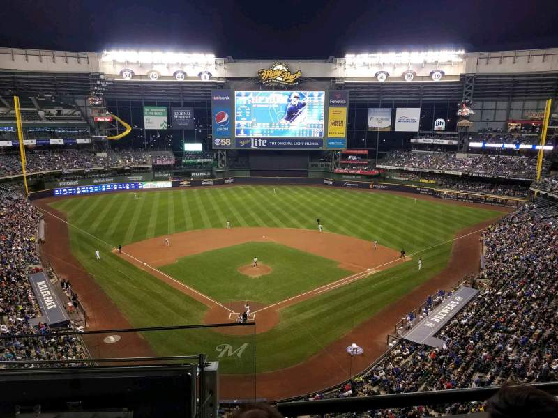 Seating view for Miller Park Section 421 Row 2 Seat 1