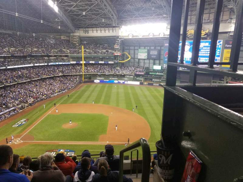 Seating view for Miller Park Section 415 Row 7 Seat 18