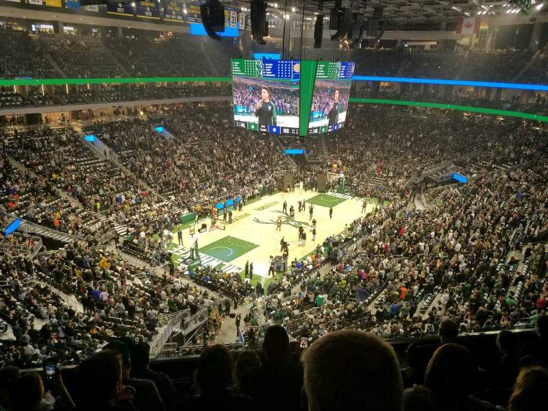 Seating view for Fiserv Forum Section 212 Row 5 Seat 17