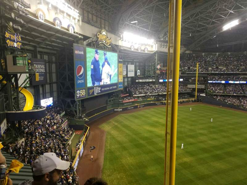 Seating view for Miller Park Section 439 Row 2 Seat 3