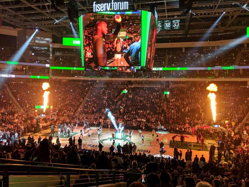 Seating view for Fiserv Forum Section 116 Row 23 Seat 20
