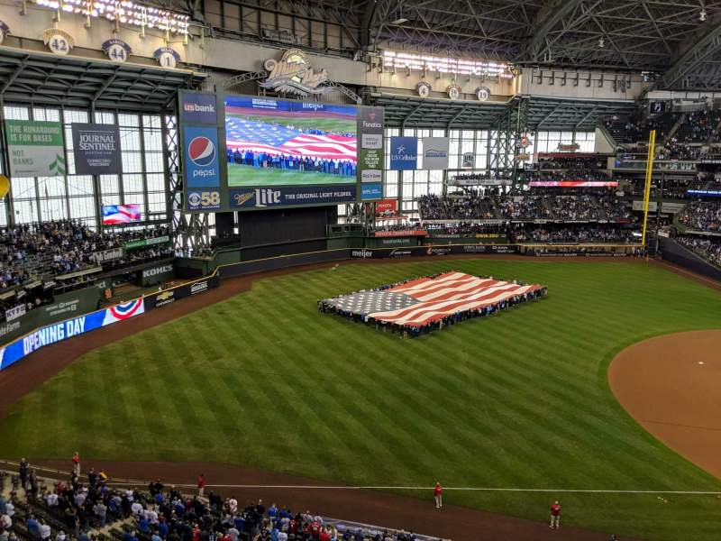 Seating view for Miller Park Section 433 Row 1 Seat 8