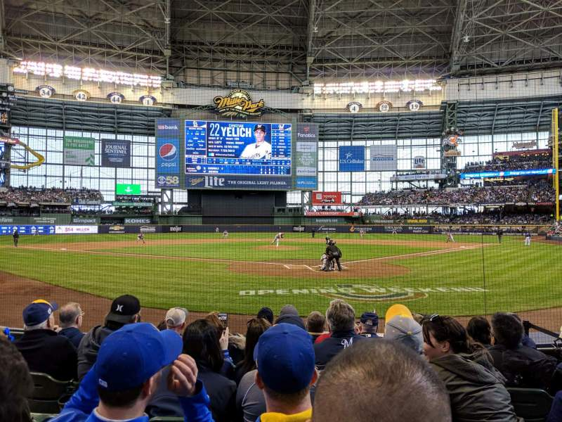 Seating view for Miller Park Section 118 Row 7 Seat 9