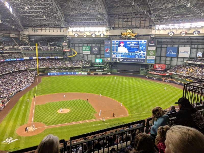 Seating view for Miller Park Section 417 Row 10 Seat 3