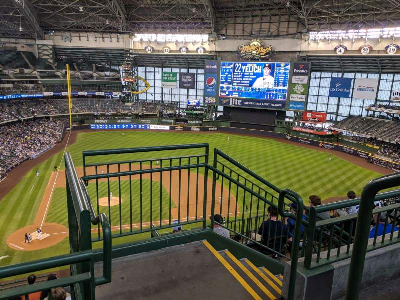 Seating view for Miller Park Section 417 Row 9 Seat 12