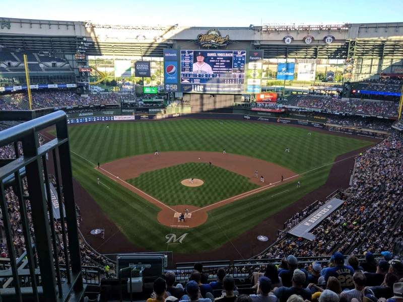 Seating view for Miller Park Section 421 Row 8 Seat 2