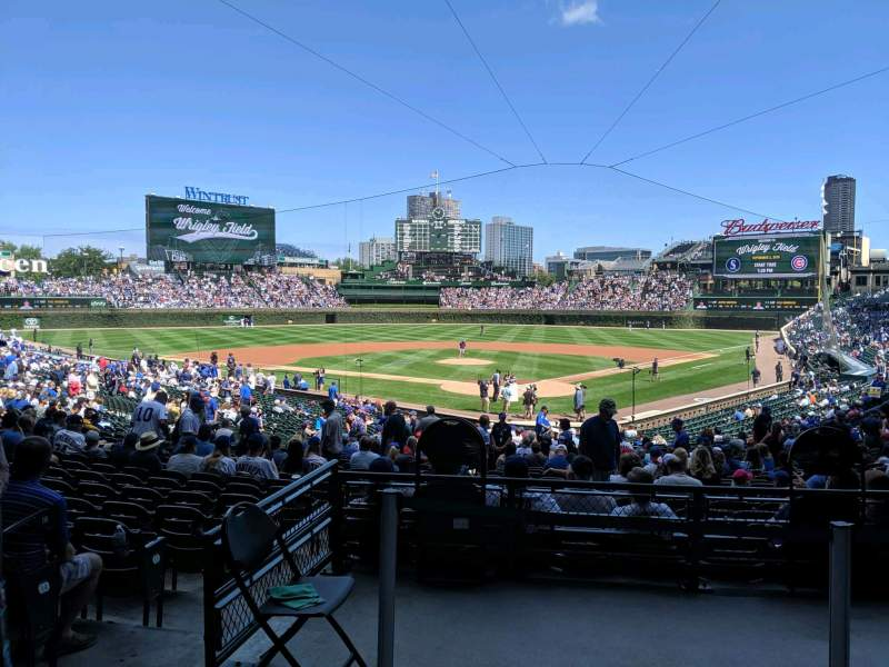 Seating view for Wrigley Field Section 216 Row 1 Seat 13
