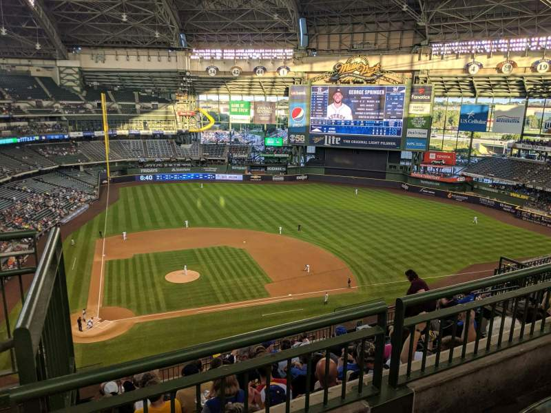 Seating view for Miller Park Section 417 Row 9 Seat 1