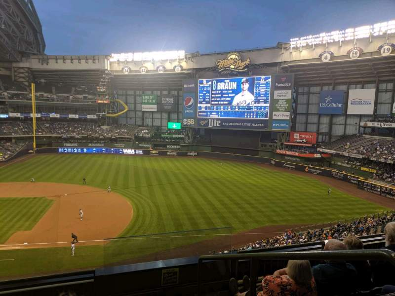 Seating view for Miller Park Section 318 Row 4 Seat 10