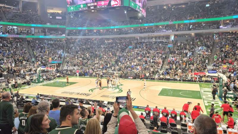 Seating view for Fiserv Forum Section 116 Row 15 Seat 11