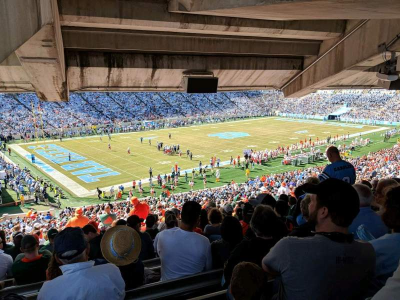 Seating view for Kenan Memorial Stadium Section 101 Row ccc Seat 18