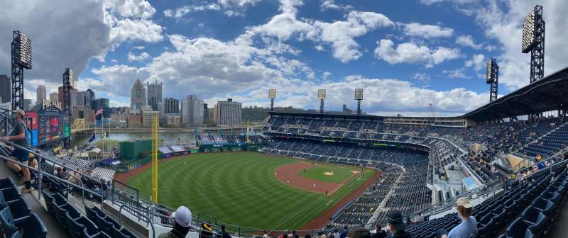 Seating view for PNC Park Section 332 Row N Seat 14