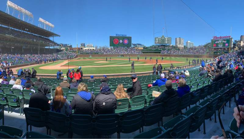 Seating view for Wrigley Field Section 22 Row 14 Seat 4