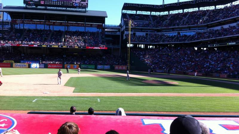 Seating view for Globe Life Park in Arlington Section 19 Row 7 Seat 5
