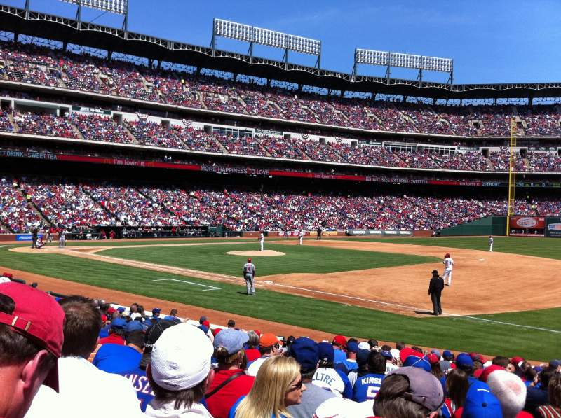 Seating view for Globe Life Park in Arlington Section 36 Row 14 Seat 11