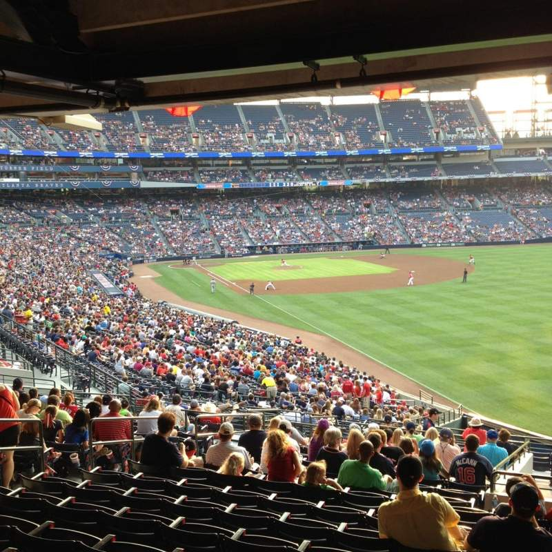 Seating view for Turner Field Section 229R Row 17 Seat 6