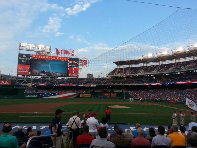 Seating view for Nationals Park Section 117 Row N Seat 17