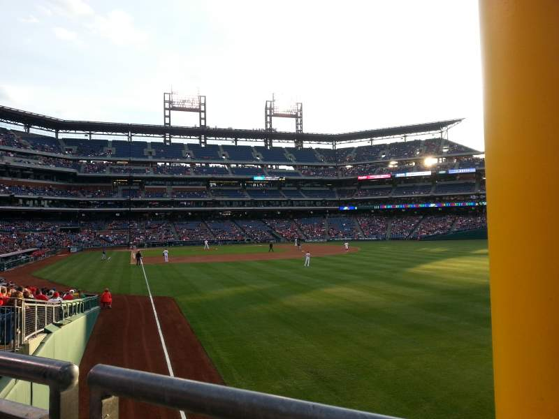 Seating view for Citizens Bank Park Section 107 Row 4
