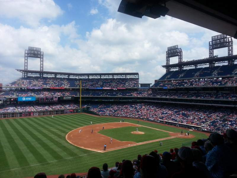 Seating view for Citizens Bank Park Section 232 Row 9 Seat 20
