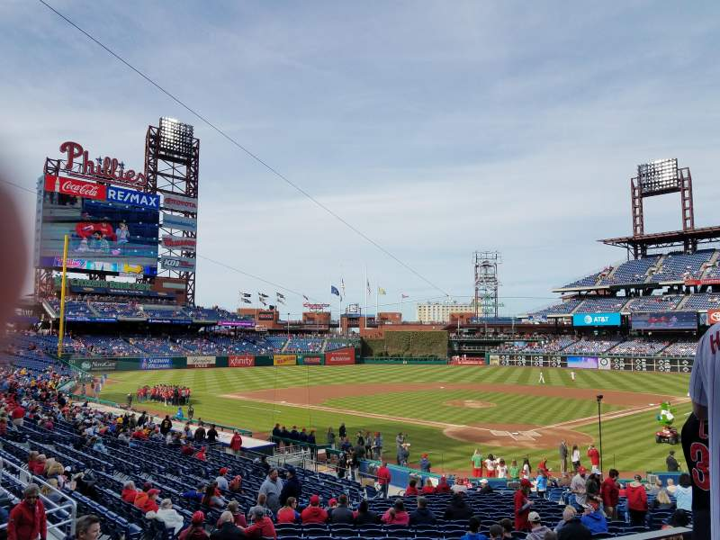 Seating view for Citizens Bank Park Section 125 Row 27 Seat 8