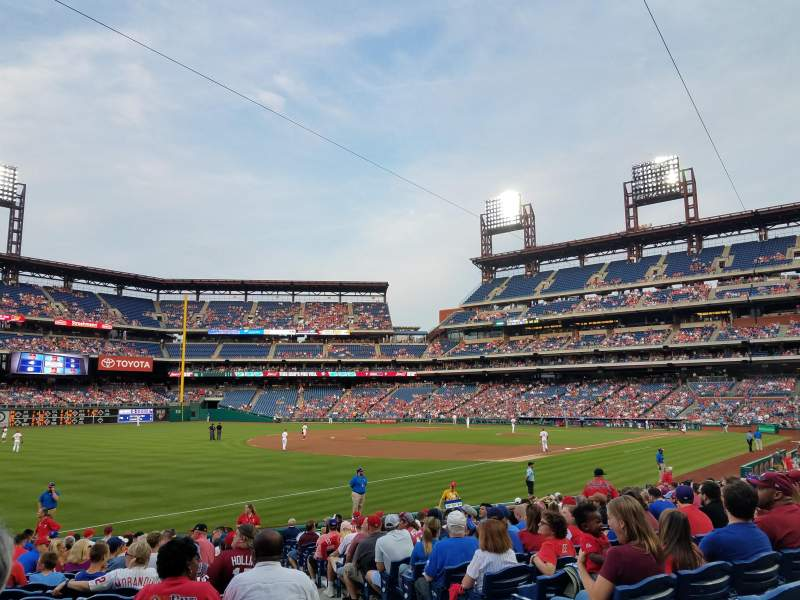 Seating view for Citizens Bank Park Section 137 Row 21 Seat 2