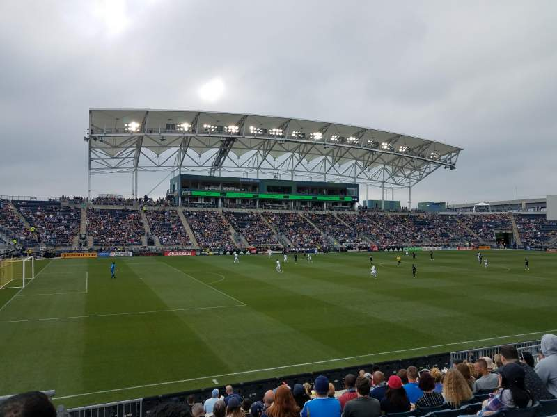 Seating view for Talen Energy Stadium Section 132 Row N Seat 16