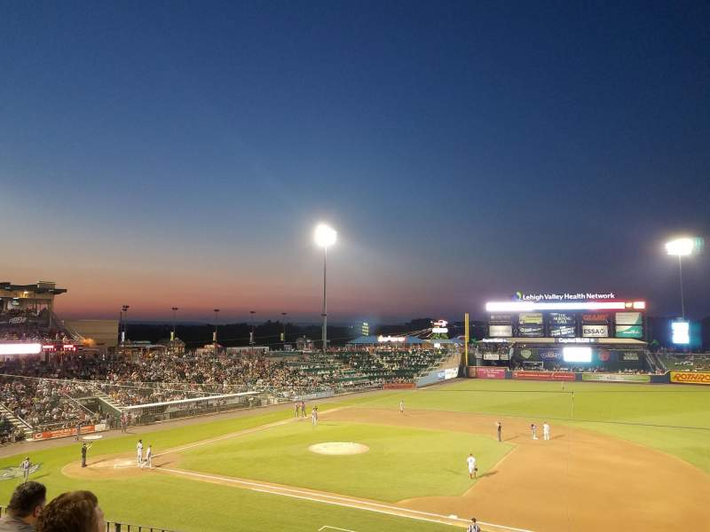 Seating view for Coca-Cola Park Section 202 Row D Seat 7
