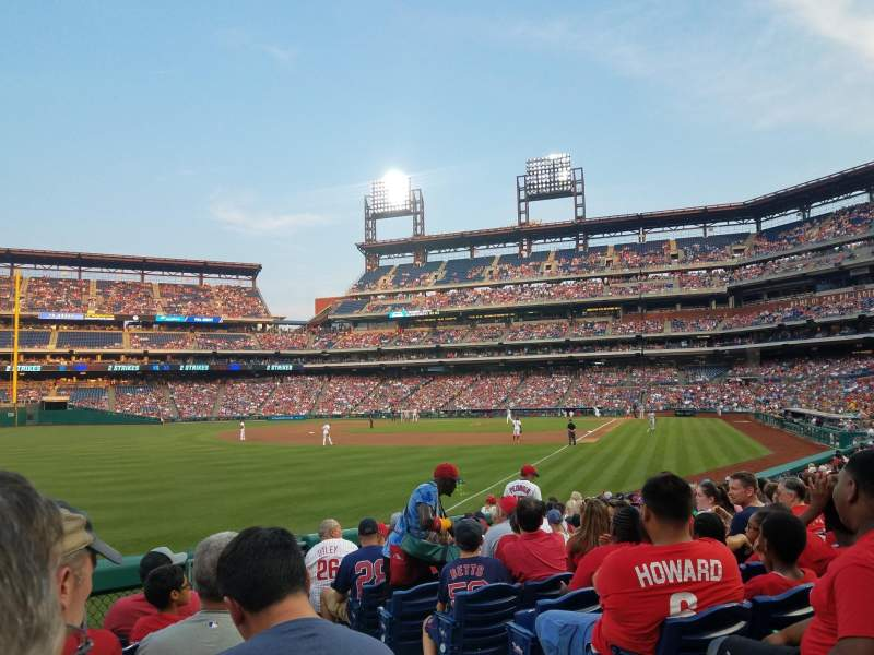 Seating view for Citizens Bank Park Section 139 Row 17 Seat 2