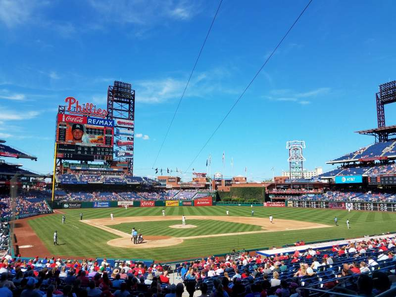 Seating view for Citizens Bank Park Section 122 Row 27 Seat 3