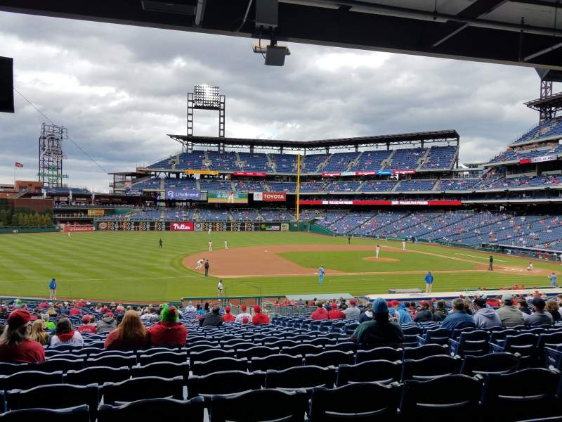 Seating view for Citizens Bank Park Section 133 Row 38 Seat 6