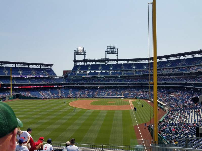 Seating view for Citizens Bank Park Section 241 Row 10 Seat 1