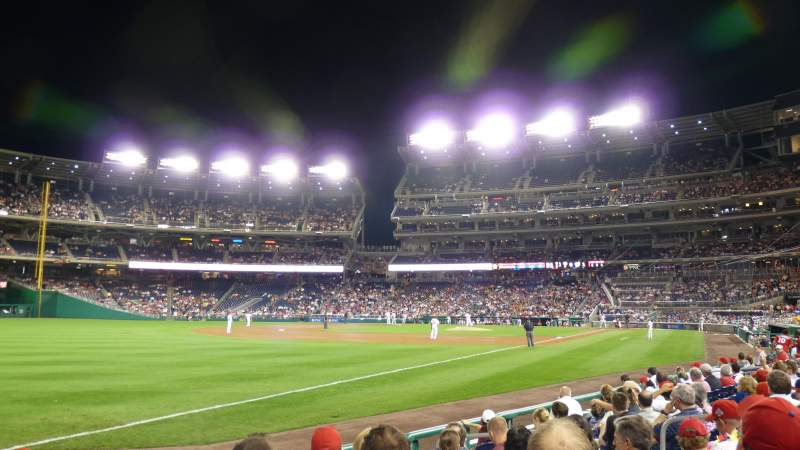 Seating view for Nationals Park Section 110 Row J Seat 11