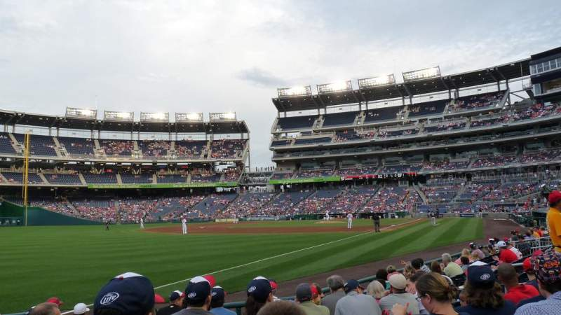 Seating view for Nationals Park Section 110 Row K Seat 15