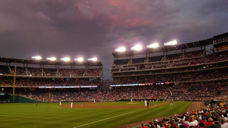 Seating view for Nationals Park Section 109 Row R Seat 9