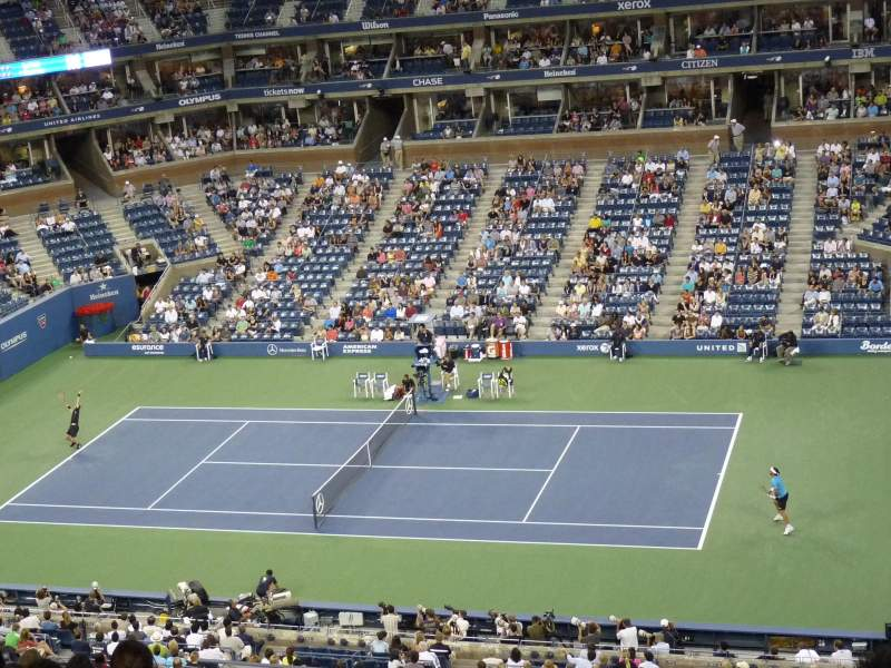 Seating view for Arthur Ashe Stadium Section 141 Row F Seat 3