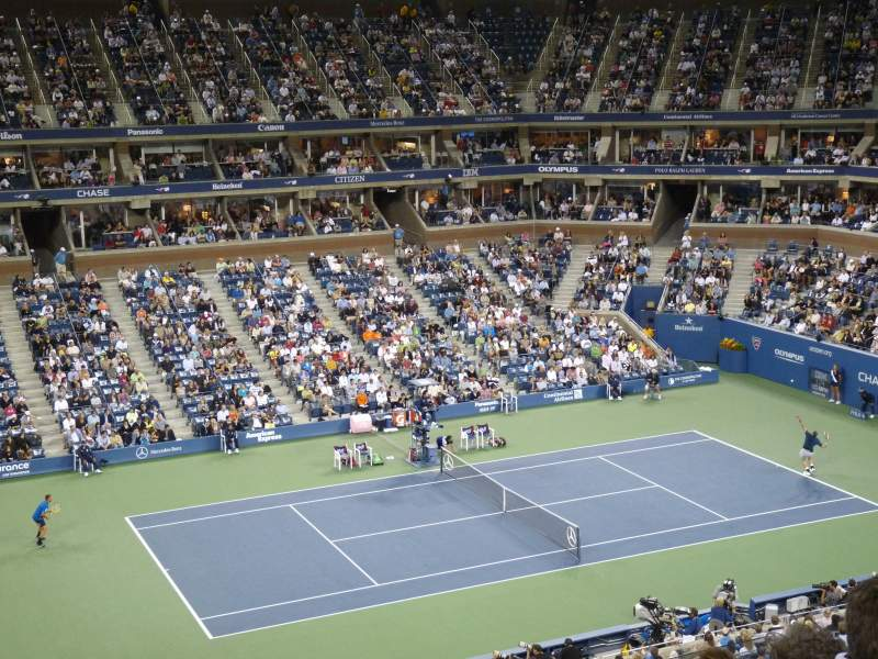 Seating view for Arthur Ashe Stadium Section 123 Row C Seat 5