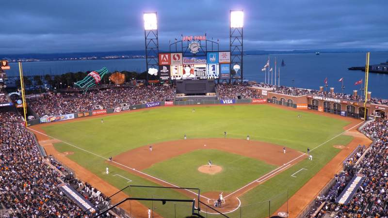 Seating view for AT&T Park Section VR315 Row 5 Seat 19