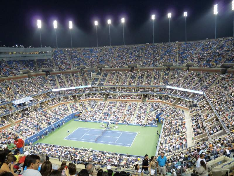 Seating view for Arthur Ashe Stadium Section 314 Row N