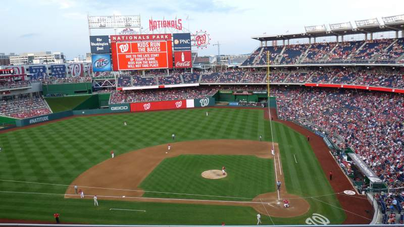 Seating view for Nationals Park Section 310 Row C Seat 19