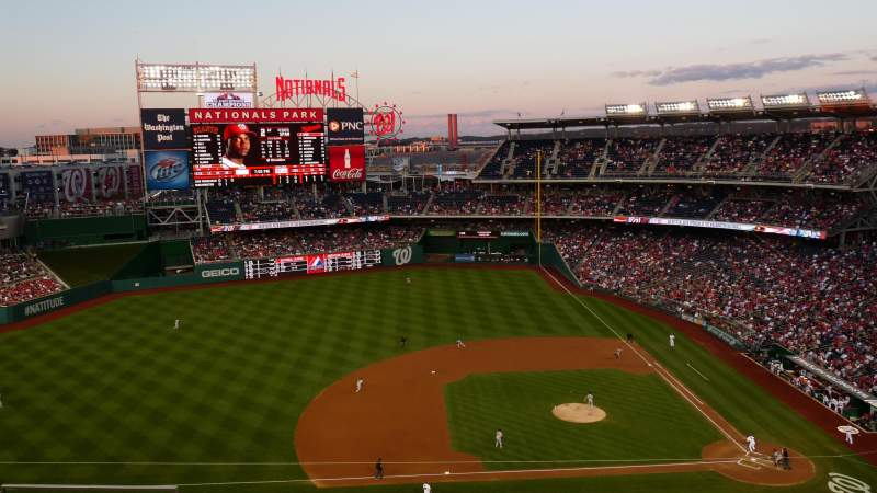 Seating view for Nationals Park Section 308 Row L Seat 8
