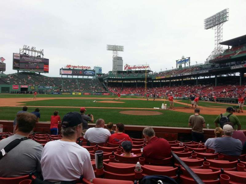 Seating view for Fenway Park Section Field Box 56 Row H Seat 1