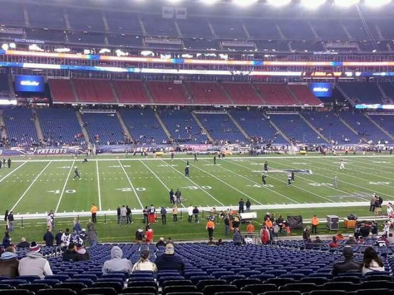 Seating view for Gillette Stadium Section 134 Row 29 Seat 16