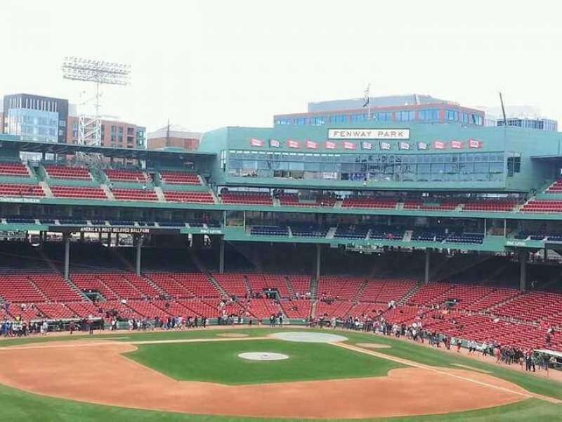 Seating view for Fenway Park Section green monster 8 Row sro